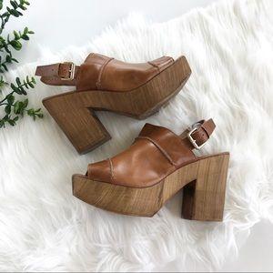 Topshop Lori Slingback Platform Sandal